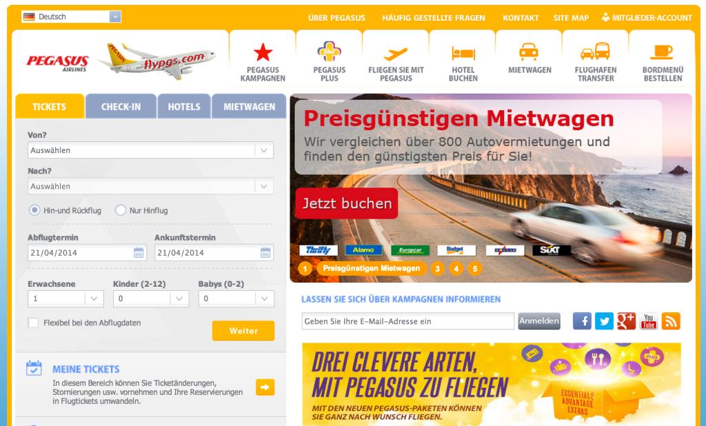 FlyPgs.com Anfang 2014
