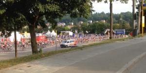 Der Massenstart: Auf dem Foto weniger spektakulär, es waren aber über 1.000 Starter !
