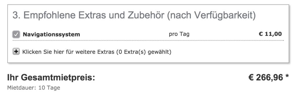 11€ pro Tag für ein Navi: Hier lohnt der Kauf in Deutschland bei einer längeren Mietdauer!?