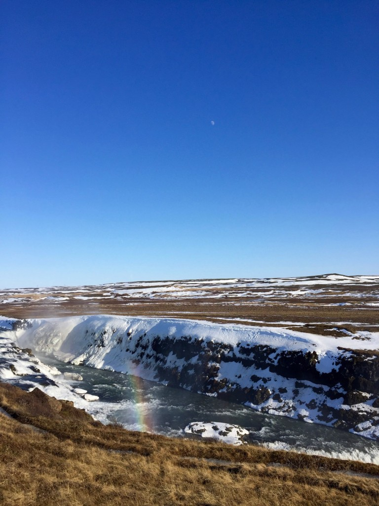 Wasserfall, Regenbogen und der Mond!